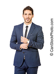 businessman - Fashion shot of a handsome man wearing elegant...
