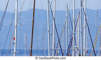 quot;yatch poles in marina, boat dock, ship pier, kusadasi,...