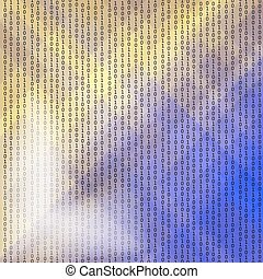 Concept Binary Code Numbers - Binary Code Background Concept...