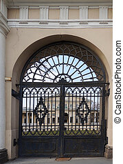 Gate of Yusupov Palace on Fontanka River, St Petersburg...