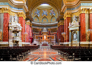Interior of Stephen\\\'s Basilica - Interior of Stephen\'s...