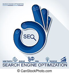 Infographic perfect search engine optimization Concept with...
