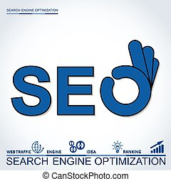 Infographic perfect search engine optimization. Concept with...