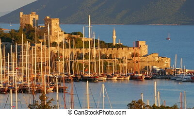 quot;bodrum yacht marina, holiday destination in turkeyquot;...