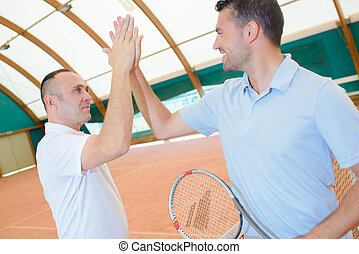 high five in the court