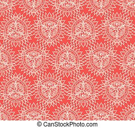 Vector abstract seamless geometric background - Vector...