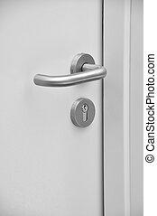 Door handle - The details of the emergency exit door handle
