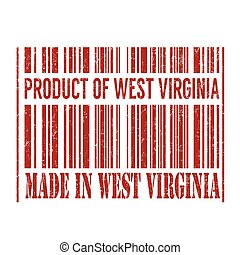Product of West Virginia, made in West Virginia barcode stamp