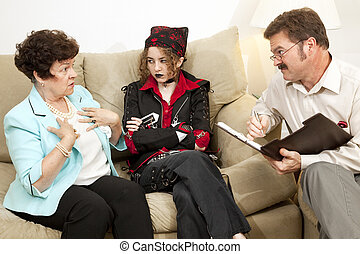 Counseling - Who Me - Mother explains herself to a family...
