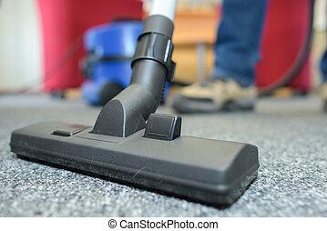 Closeup of vacuum cleaner attachment