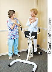 Physical Therapist with Chiropractic Patient