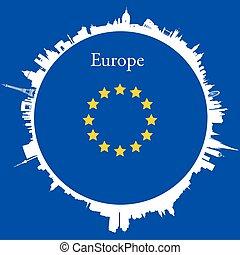 Vector Europe Circular background