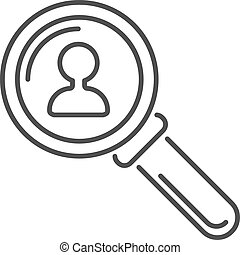 Magnifying glass flat loupe icon illustration - Search loupe...