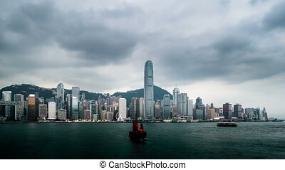 Night to day timelapse of Hong Kong - Night to day timelapse...