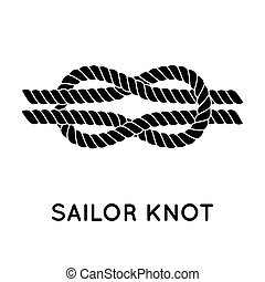 Sailor rope knot - Sailor knot Nautical rope infinity sign...