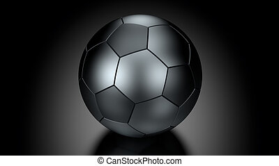 Soccer Ball in Low Key Lighting - Soccer ball in Low Key...