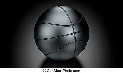 Basket Ball in Low Key Lighting over a black background Part...