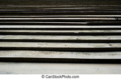 Aged Wooden Louvers or Slats
