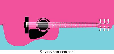 Pink Acoustic Guitar Background - A typical acoustic guitar...