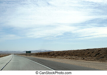Highway to Barstow - Distant traffic on a highway to Barstow...