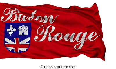Isolated Waving National Flag of Baton Rouge City - Baton...