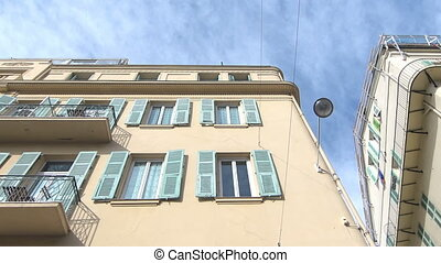 Houses in Nice France - Yellow houses in Nice France