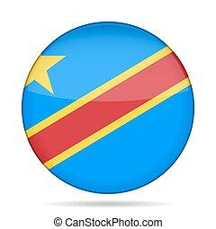 button flag - Democratic Republic of the Congo