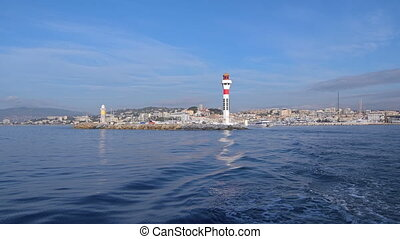 Lighthouses in Cannes Cote dAzur, France
