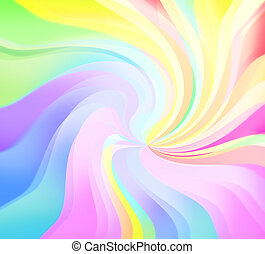 Spring color twirl - Twirl spectrum vortex of pure and light...