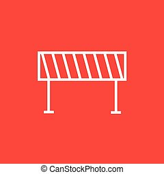 Road barrier line icon - Road barrier thick line icon with...