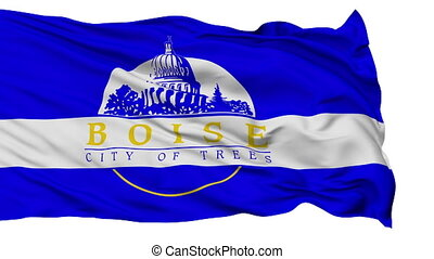 Isolated Waving National Flag of Boise City