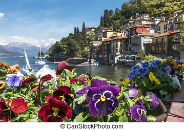 Varenna Lake Como - Flowered balcony in Varenna