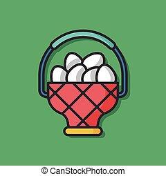 chicken egg vector icon