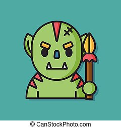 monster cartoon character icon
