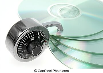 Safety backup - CD/DVD safely backed up by padlock.