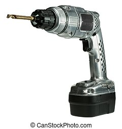 Classic style cordless drill - Classic retro style cordless...