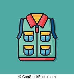 Fisherman vest vector icon
