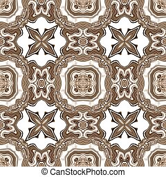 Seamless ornate texture or pattern in brown spectrum