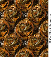 Seamless plasmatic shape background or pattern in brown...