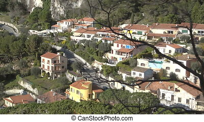 General view over buildings and rooftops of Cannes Old town,...