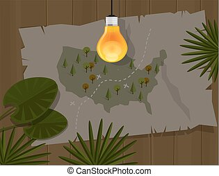 map jungle bulb night america dark - map jungle bulb night...