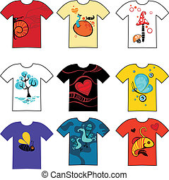 tshirt set - vector illustration of a tshirt set
