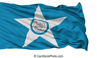 Isolated Waving National Flag of Houston City - Houston City...