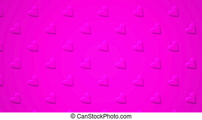 Pink Hearts Abstract - Loop able 3DCG render Abstract...