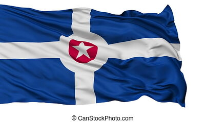 Isolated Waving National Flag of Indianapolis City -...