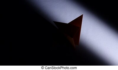 Paper kitty Origami White Light Time lapse - Paper kitty...