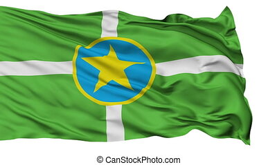Isolated Waving National Flag of Jackson City - Jackson City...