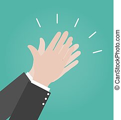 Hands clapping vector icons, Applause icon