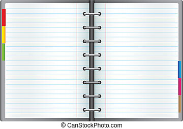 Notebook - Business notebook isolated on the white...