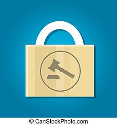 patent law protection secure rights vector key